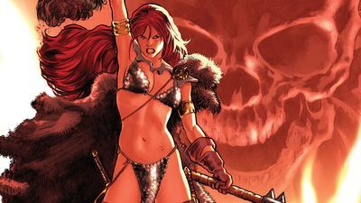 Red Sonja In Battle Widescreen Comic Wallpaper Red Sonja Warrior Girl Red