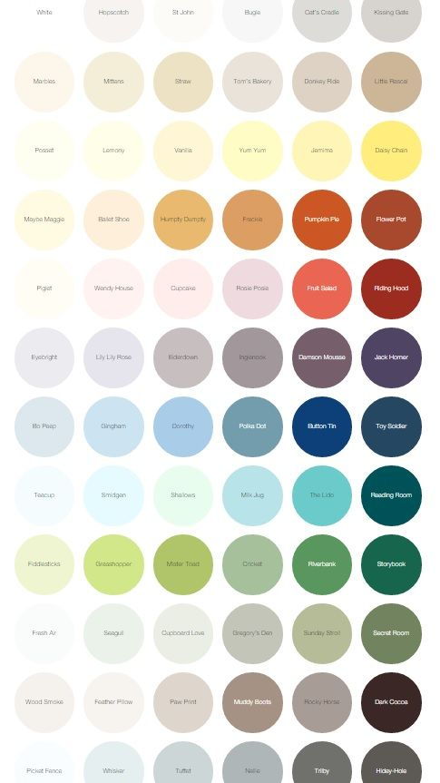 The Earthborn Paints Colour Palette Available In Claypaint Eggshell Eco Chic For Furniture
