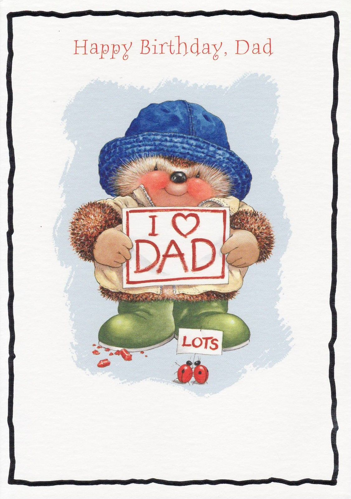 Hallmark Country Companions Hedgehog Birthday Card Dad Ebay