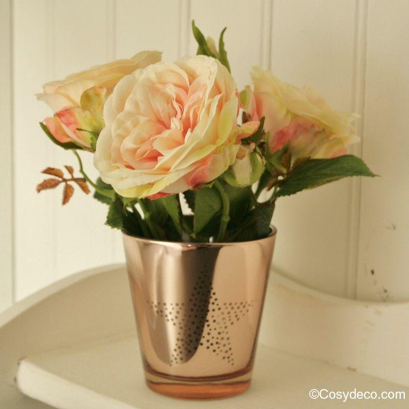 Tige de Rosier Anglais Couleur Pastel artificielle pour Bouquets Raffinés | Rose anglaise ...