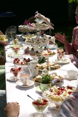 Country Tea Party Themed Wedding Reception