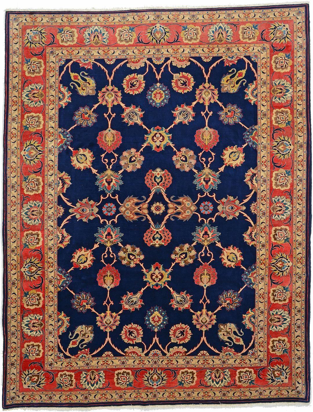 Navy Blue 9 0 X 11 7 Varamin Rug Persian Rugs Esalerugs Persian Rug Rugs Rugs On Carpet