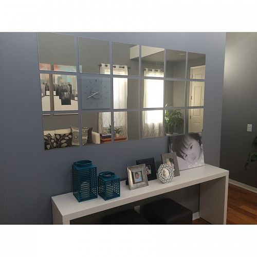 Buy Ikea Lots DIY Mirror Set of 4 Save P1274 Deals for only  725 instead. Grey bedroom  IKEA Kallax  IKEA LOTS mirrors   Ideas for the House