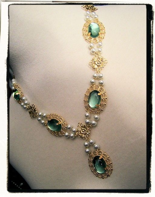 Water Lily Tudor Renaissance Necklace