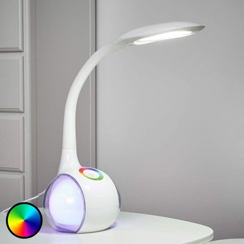 Flexibele Led Tafellamp Paula Wit Led Tischleuchte Led Schreibtischleuchte Led Tischlampe
