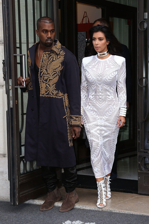 Pin By Jason Kwame On Coupling Fashion Fashion Kim Kardashian Balmain Kanye West And Kim