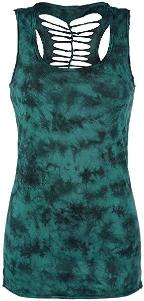 847849a81104a6 R.E.D. by EMP Cut Out Tank Top Girl-Top grün S | Clothes / Klamotten