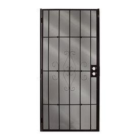Gatehouse Magnum Black Steel Surface Mount Single Security