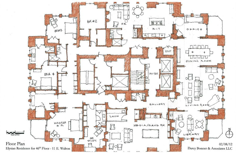 Waldorf Astoria Chicago Residence Darcy Bonner Apartment Floor Plans Floor Plans Pent House