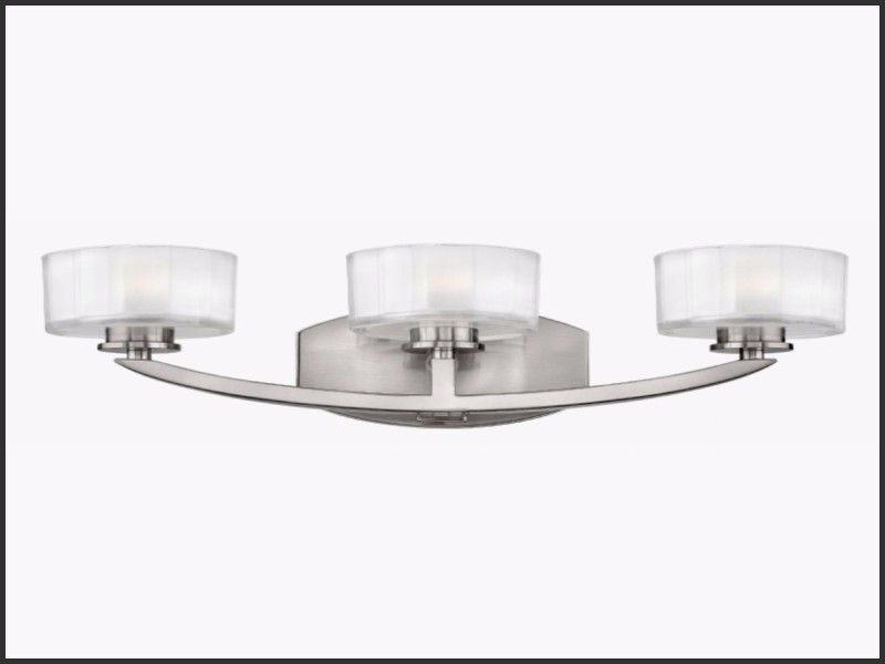 Best Of Portfolio 3 Light Brushed Nickel Bathroom Vanity Light
