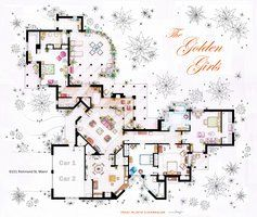 The Golden Girls House floorplan v 1 by nikneuk on DeviantArt