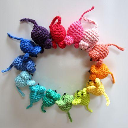 Mini Mice for a Crochet Handmade Monday