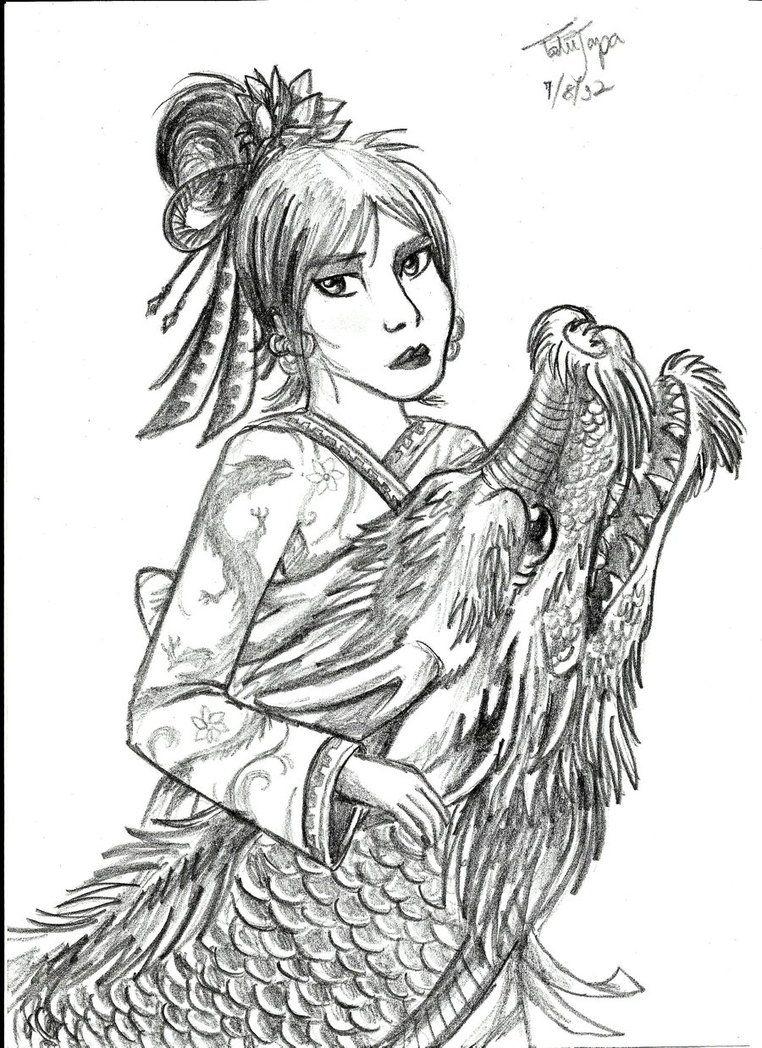 The Geisha And The Dragon By Tatujapa On Deviantart