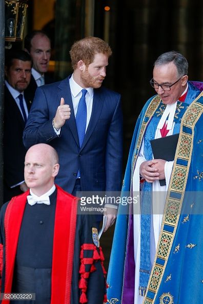 Prince Harry leaves after a Service Of Commemoration For Tunisia Terrorist Attacks at Westminster Abbey on April 12 2016 in London England