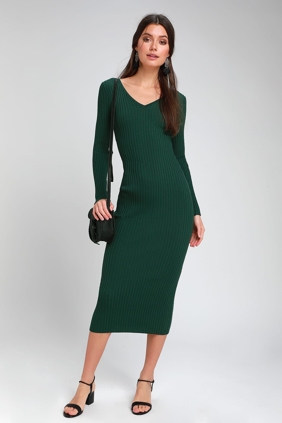 See Your Smile Forest Green Ribbed Bodycon Midi Dress Midi Dress Bodycon Ribbed Bodycon Midi Dress Green Dress Casual [ 1680 x 1120 Pixel ]