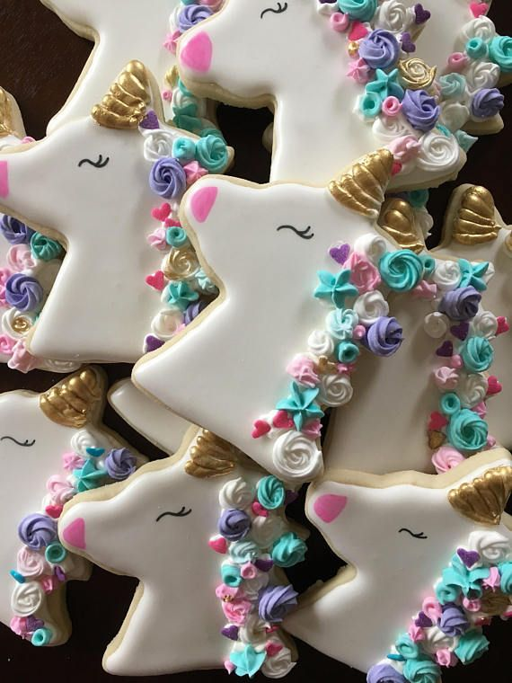 12 Unicorn Sugar Cookies in 2019 | Frosted Cookies ...