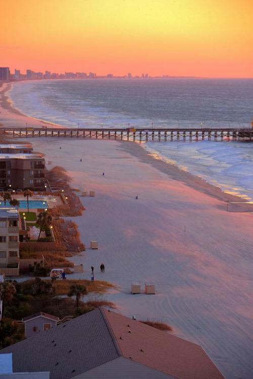 Sunrise Myrtle Beach South Carolina By Bikash Prusty