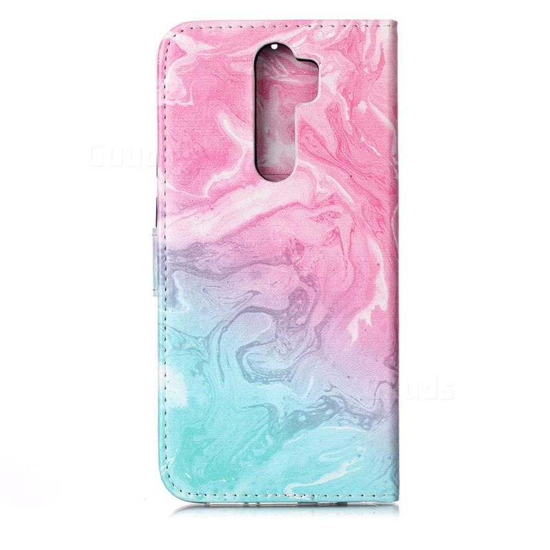 Pink Green Marble Pu Leather Wallet Case For Mi Xiaomi Redmi Note 8 Pro Xiaomi Redmi Note 8 Pro Cases Guuds Leather Wallet Case Pu Leather Wallet Leather Wallet