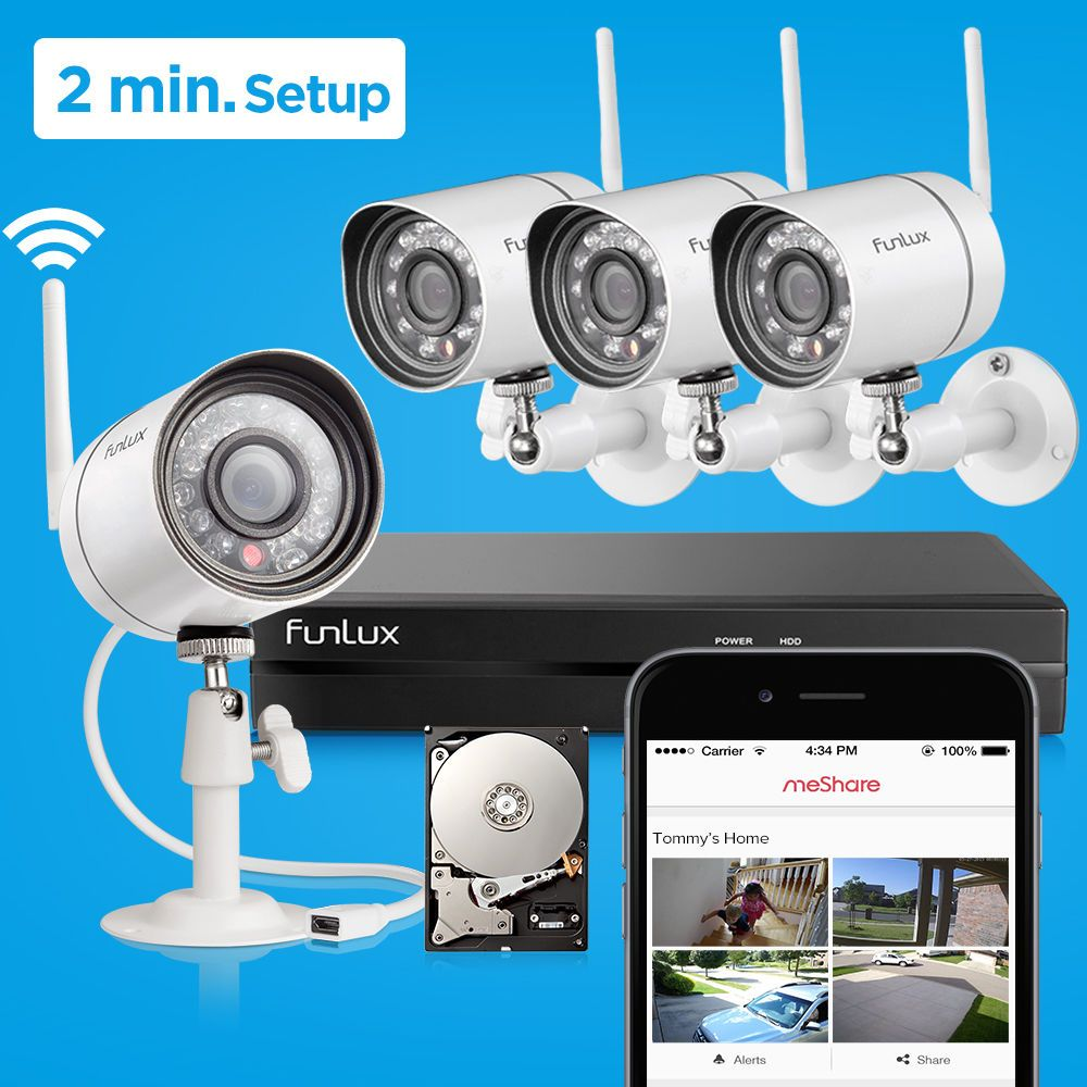 Zmodo 720P HD Outdoor Wireless IP Network IR Home Security