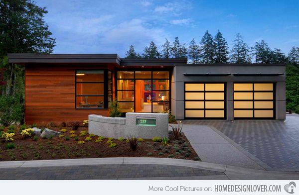 20 Contemporary Attached Garage Design Home Design Lover Exterior Design Eco House Design House Design