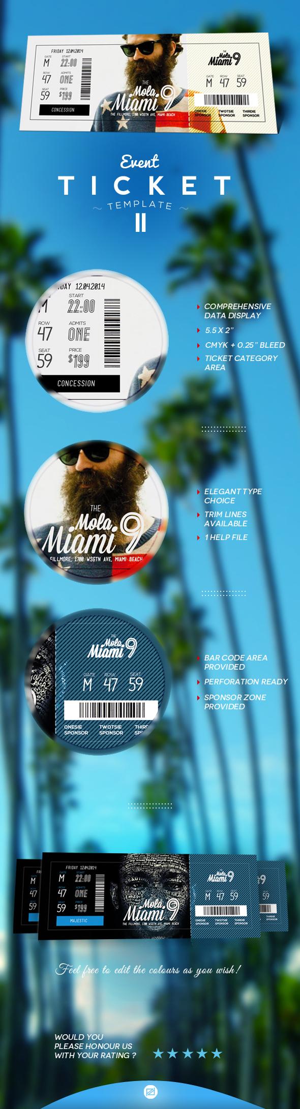 event ticket template by patoo design via behance billet event