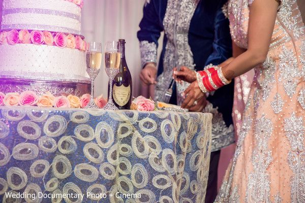 Indian couple eating cake at wedding reception http://www.maharaniweddings.com/gallery/photo/108341 @vijayrakhra @MalaTOENY