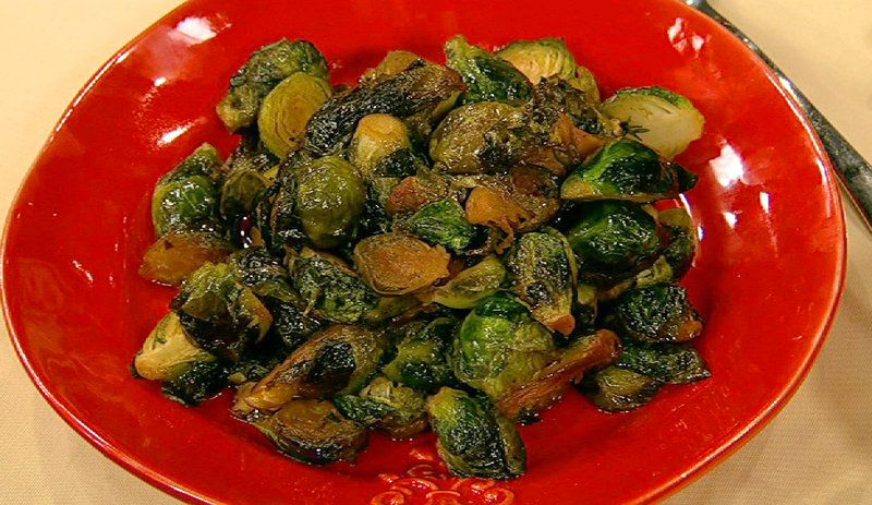Holiday Brown Butter Thyme Honey Caramelized Brussels Sprouts Curtis Stone
