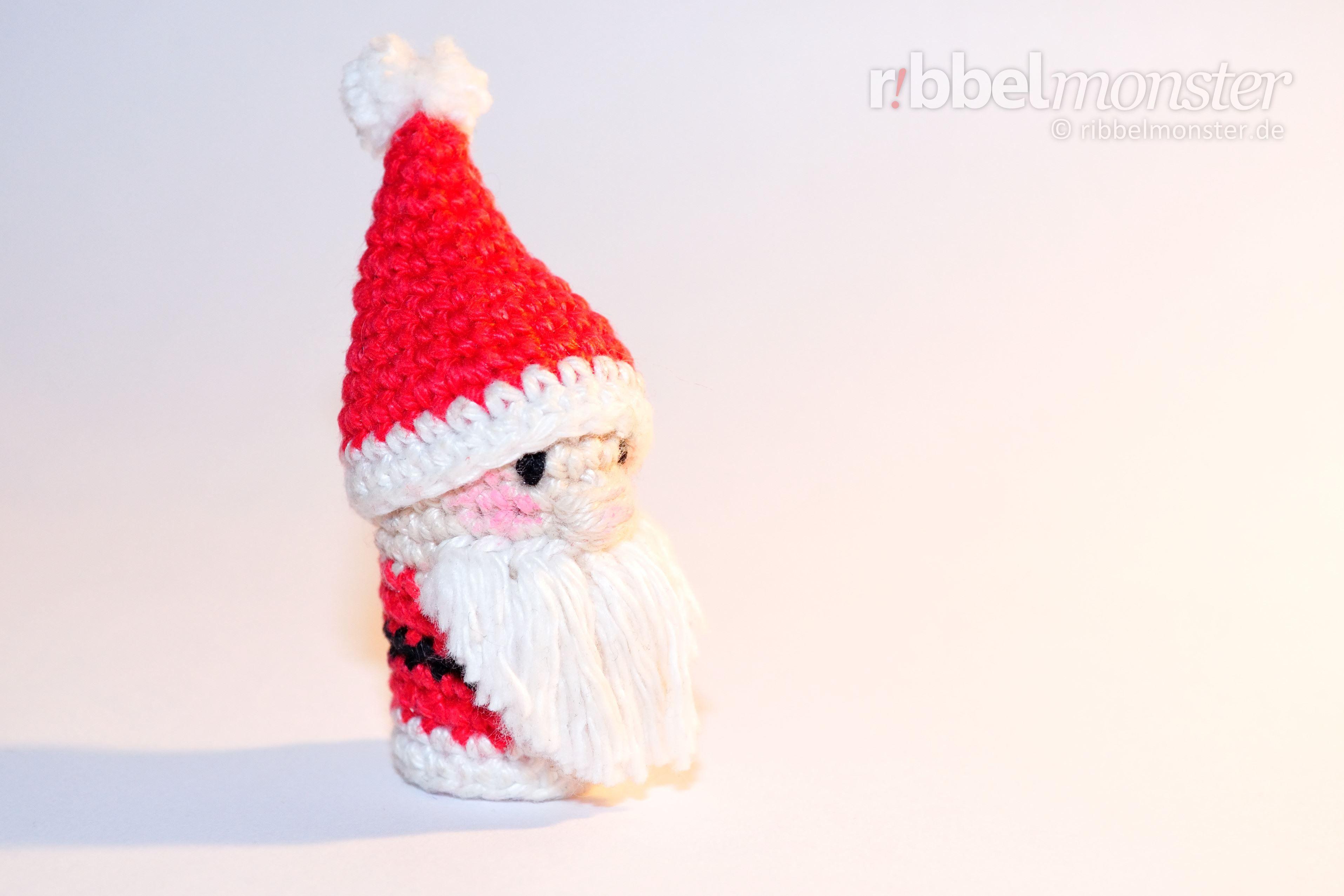 Amigurumi Weihnachtsmann Fingerpuppe Häkeln Kostenlose Anleitung