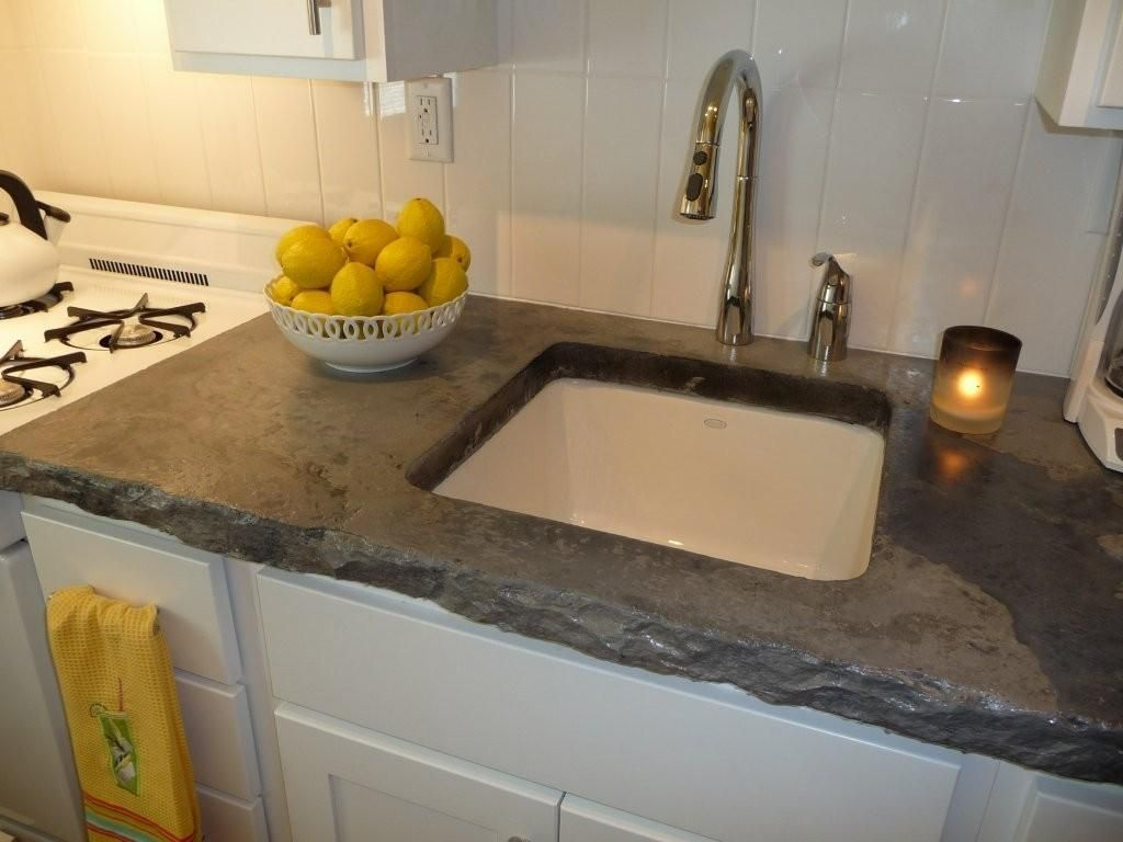 Love The Rough Edges On The Poured Concrete Countertops Refinish