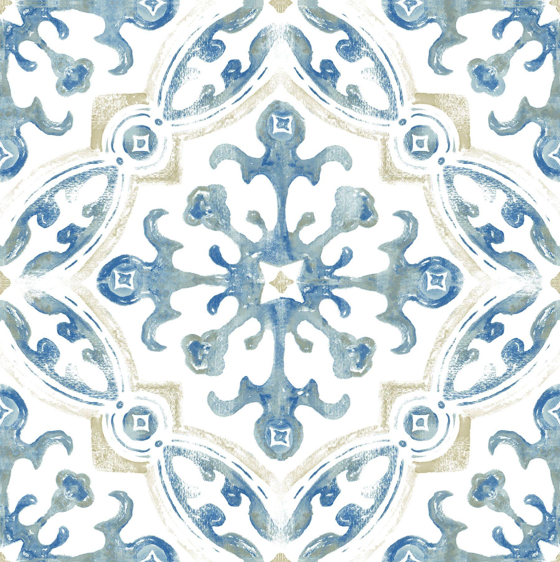 Floorpops Virgin Vinyl Blue Fp3299 Tuscan Peel Stick Floor Tiles Walmart Com In 2020 Peel And Stick Floor Peel And Stick Vinyl Vinyl Flooring