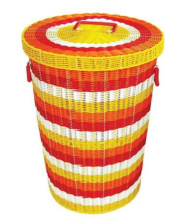 Take A Look At This Yellow Orange Hamper By Karma Living On Zulily Today With Images Laundry Hamper Tropical Hampers Hamper