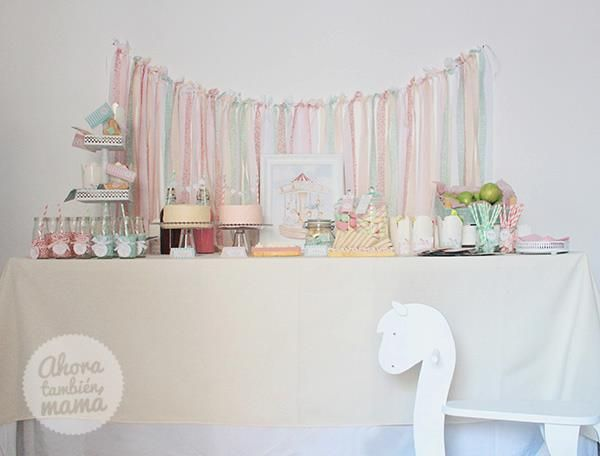 Vintage Carousel Birthday Party via Karas Party Ideas Love the