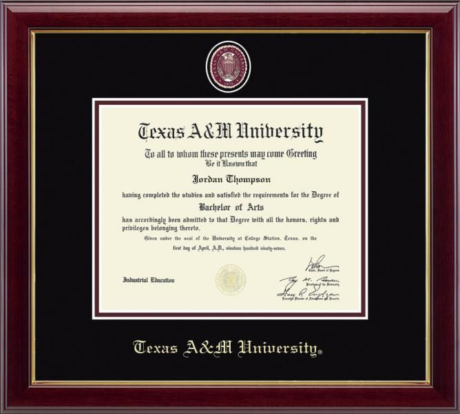 TEXAS A&M MASTERPIECE DIPLOMA FRAME | Products | Pinterest | Products