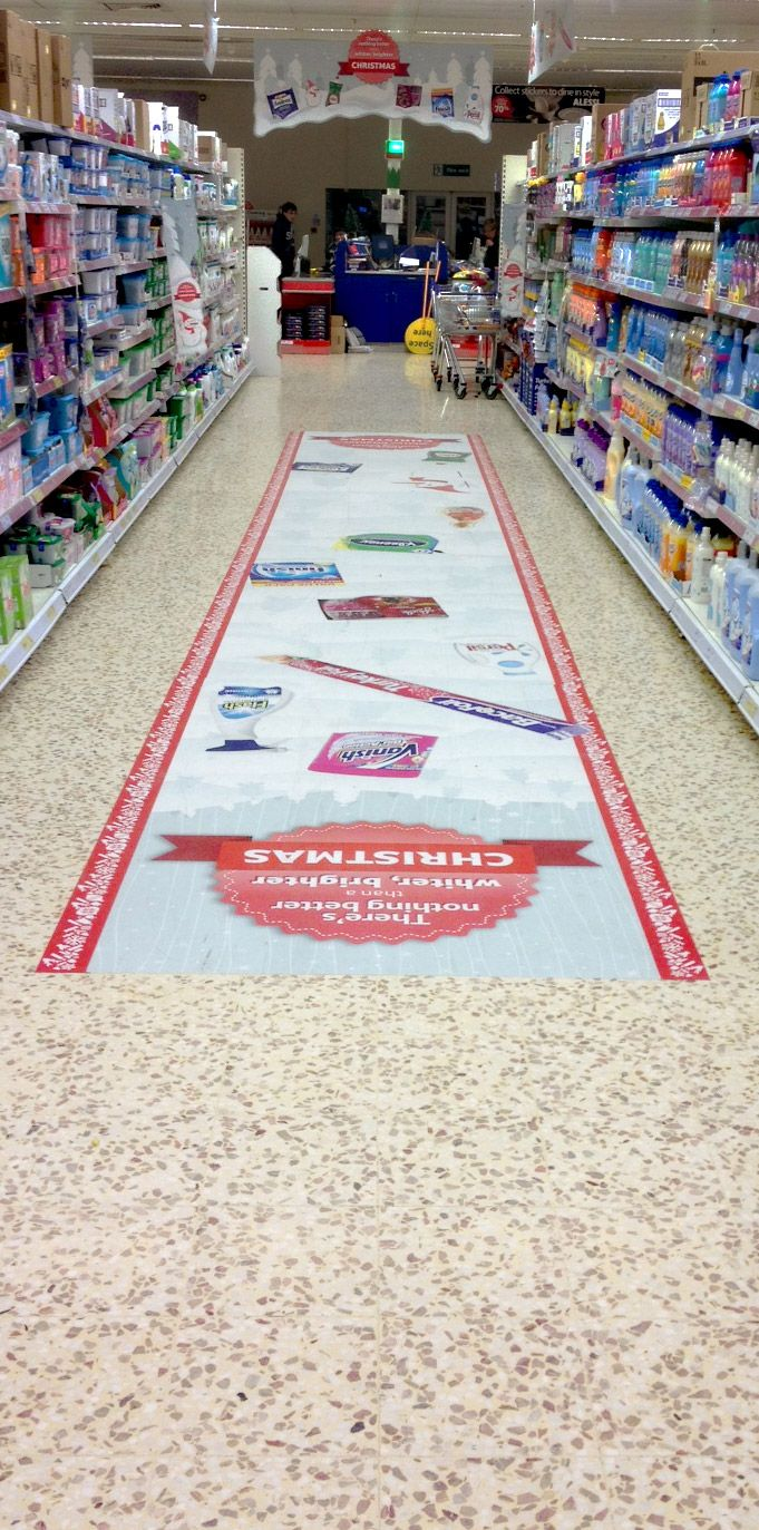Supermarket Floor Advertisement Floor Graphics Floor