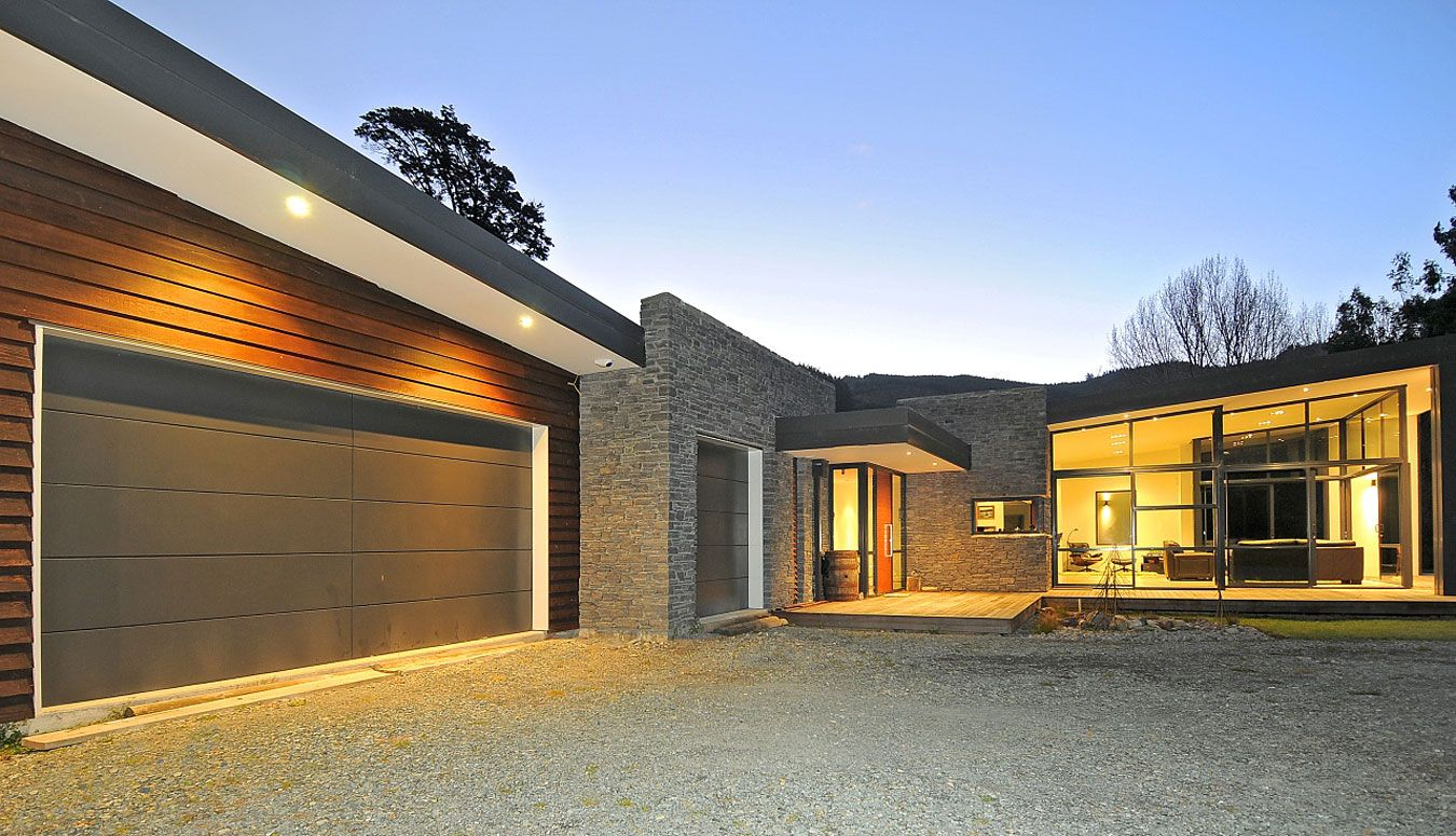 new zealand single story house front garage design feature of house