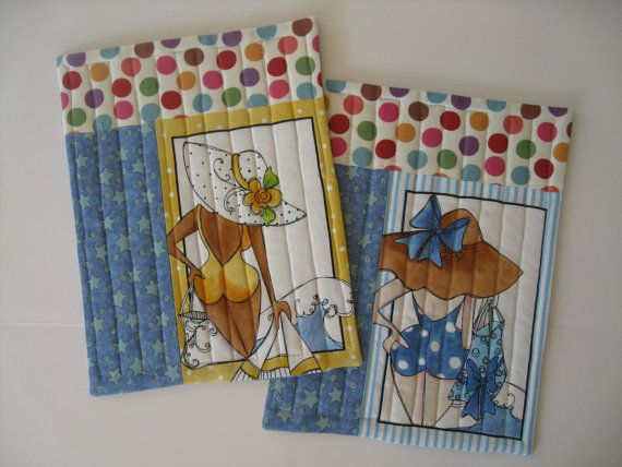 Mug tapis - jeu de 2 matelassé - Bureau décor BFF cadeau – Beach Babes