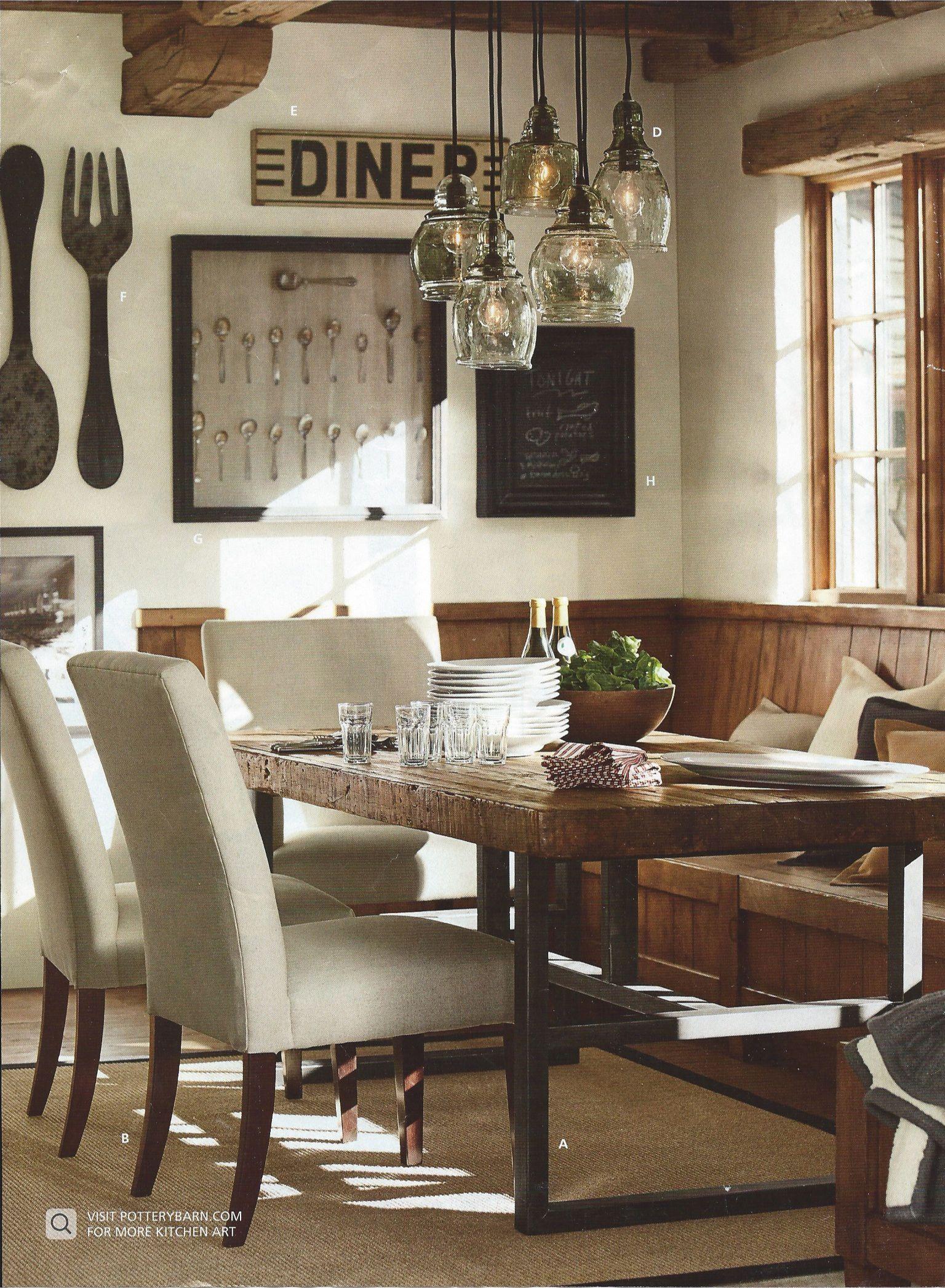 pottery barn lighting dining room