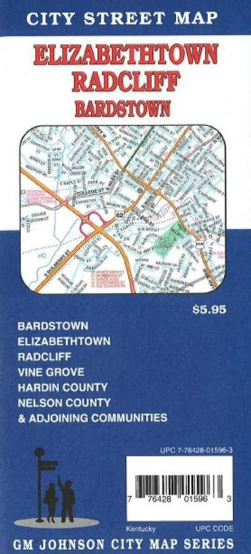 Elizabethtown radcliff bardstown and vine grove kentucky by gm two sided map of elizabethtown radclif bardstown and surrounding areas with large street index and table of selected points of interest publicscrutiny Images