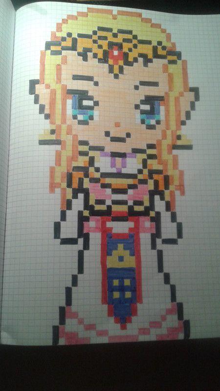 Princesse Zelda рисуночки Zelda Pixel Art Dessin Pixel