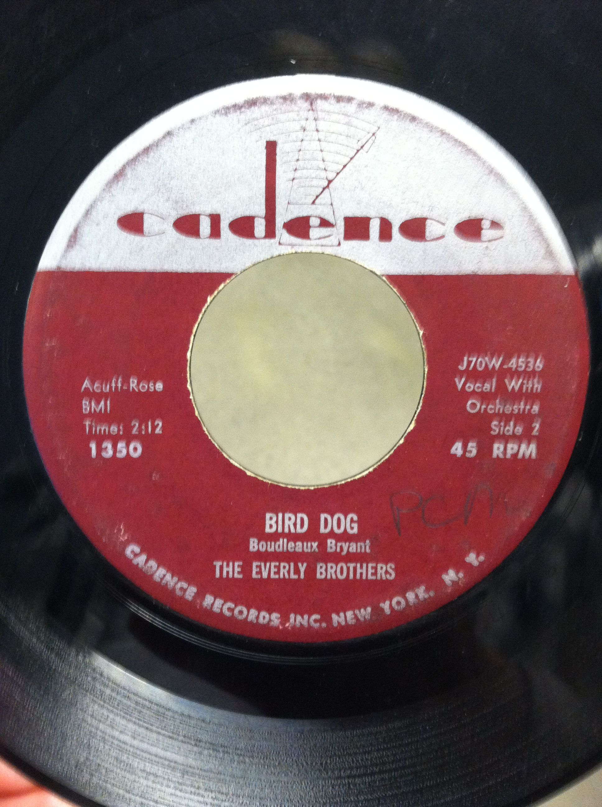 The Everly Brothers Bird Dog On Cadence Late 50 S Music