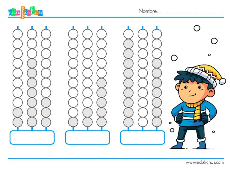Fichas Con Abaco Actividades Para Ninos Aprender Calculo Matematicas Para Ninos Estrategias Para Ensenar A Leer Fichas