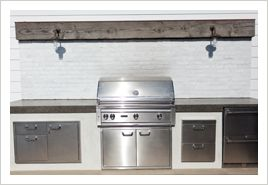 White Stucco Face With Gray Smooth Finish Concrete Countertop Outdoor Kitchen Outdoor Kitchen Appliances Outdoor Kitchen Countertops