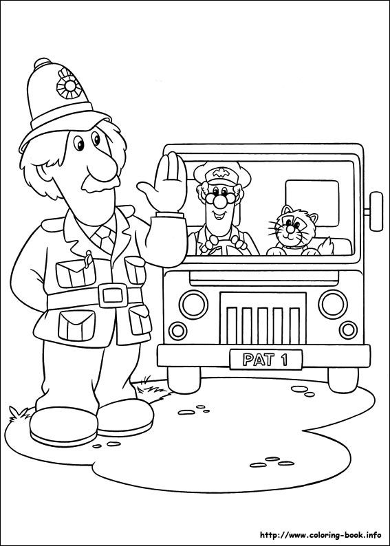 Postman Pat Coloring Picture Postman Pat Cartoon Coloring Pages