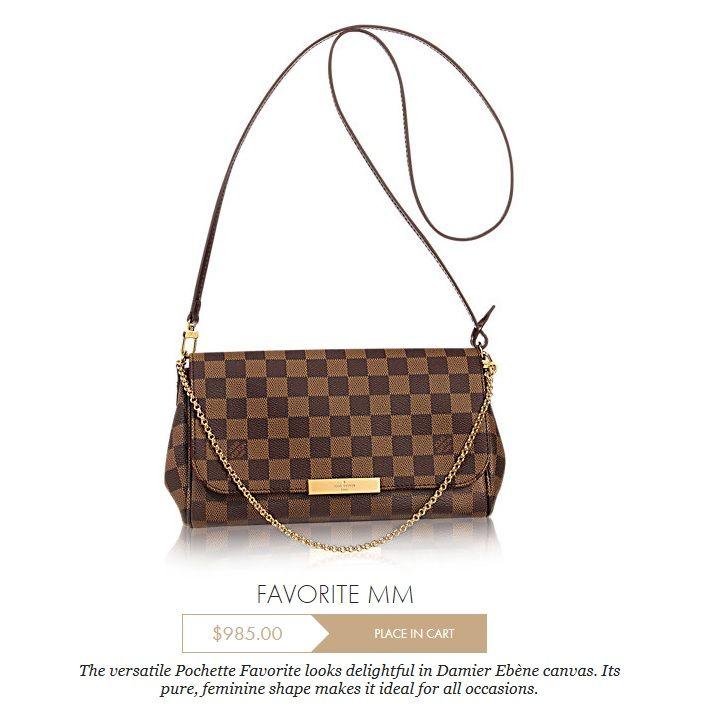 e6ed73ee5fb7 Louis Vuitton Favorite MM Damier Ebene