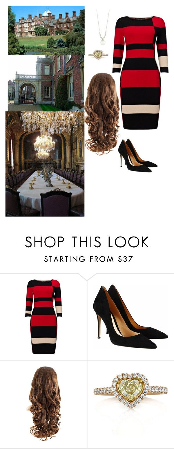 """Games and Christmas Tea"" by duchessofoxfordshire ❤ liked on Polyvore featuring Phase Eight, Gianvito Rossi, Mark Broumand and Belpearl"