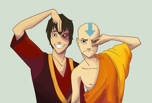 Zuko and Aang #avatarthelastairbender