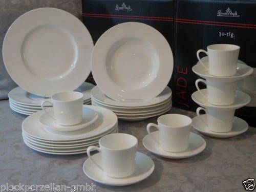 rosenthal geschirr set 30 tlg jade tafel kaffee service bone china porzellan neu geschirr. Black Bedroom Furniture Sets. Home Design Ideas