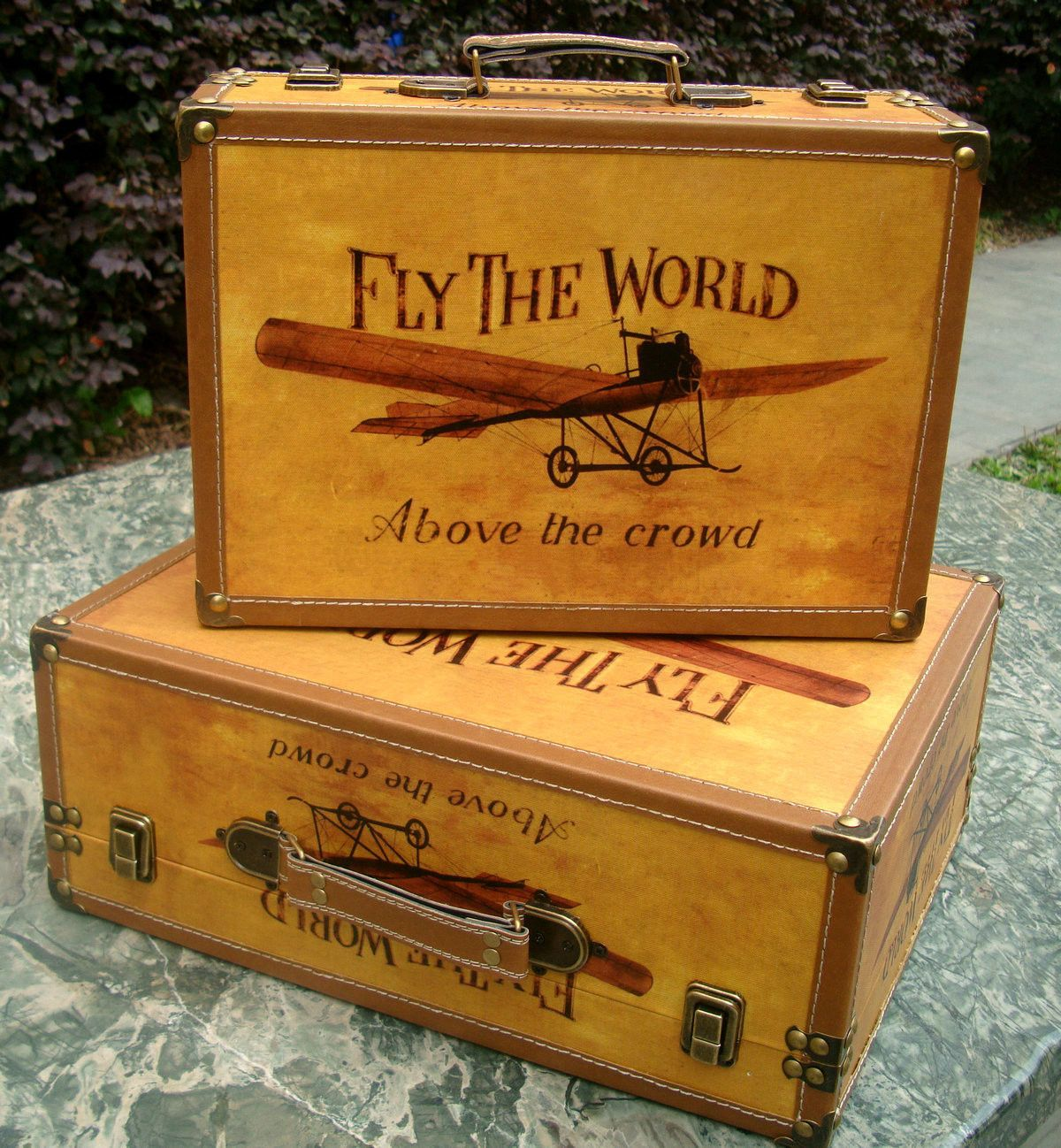 Unique Vintage Decorative Antique AirPlane Style Travel Luggage ...