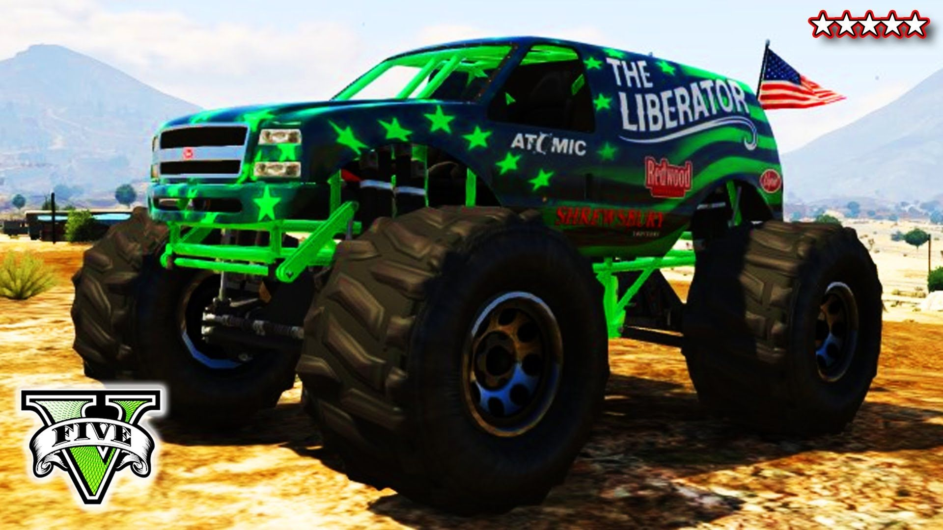 Gta 5 Liberating Mount Chiliad Epic Gta Monster Truck Climb