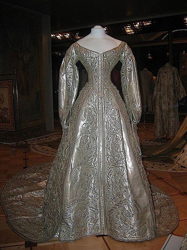 cloth of silver wedding gown (1866 wedding of marie feodorovna